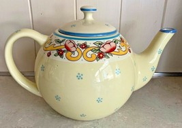 American Atelier Petite Provence 5074 Teapot & Lid Ironstone Yellow Red ... - $79.95