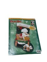 "2000 Bucilla Felt Stocking Kit 84259, 18"", Santa Baking, Gold Plated Needles - $47.53"