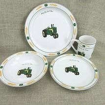 CHOICE John Deere Gibson Dish Set Tractor Wheat Amber Fields Plates, Bowls, Cups - $4.80+