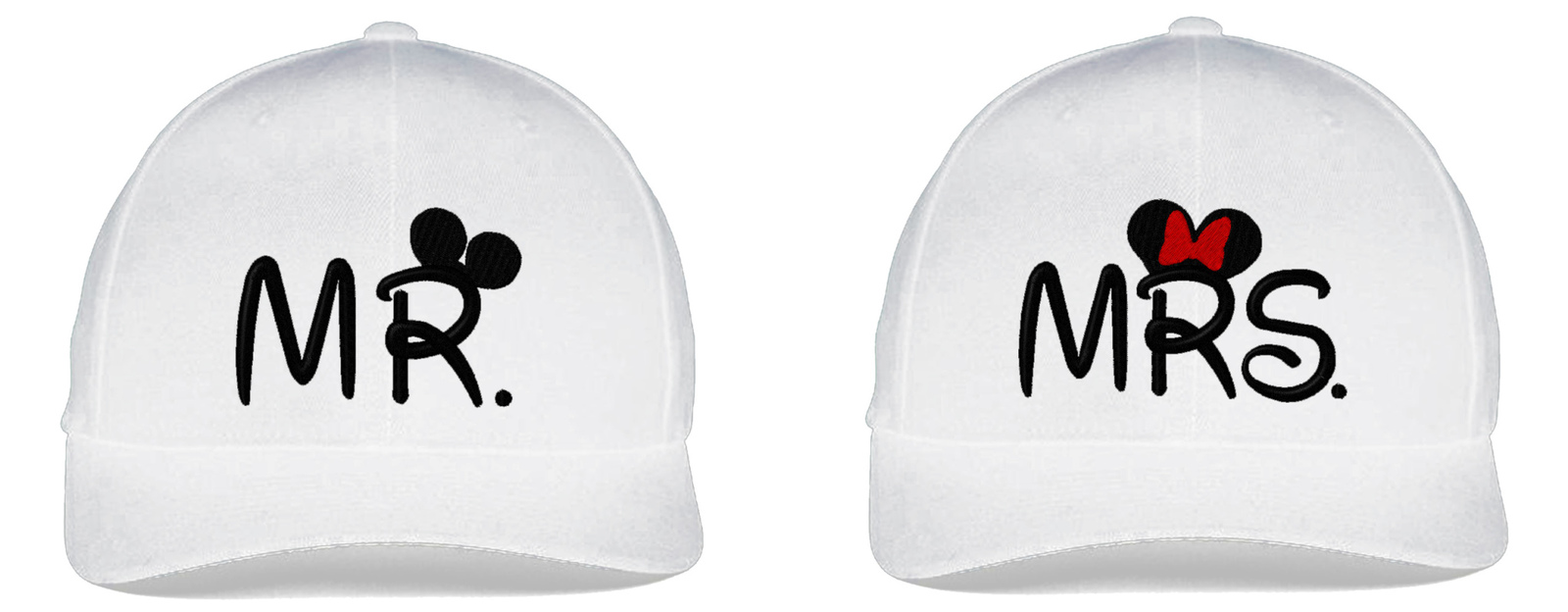 Mr & Mrs, Couple Matching, Embroidered Flexfit Hats