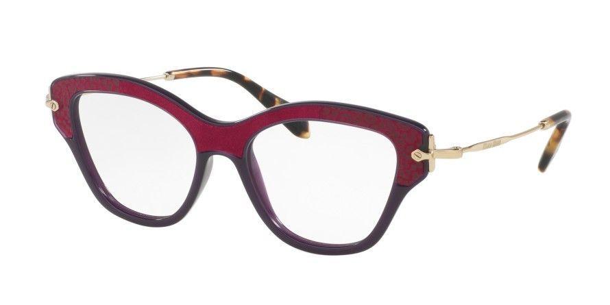 a3da7b8c838 New Miu MIu MU07OV-U6A1O1 52MM Wayfarer Women s Violet Frame Genuine  Eyeglasses -  89.09