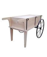 Wooden Flower Cart Farmers Market Wagon Retail Kiosk Boutique Shop Mall ... - $447.32