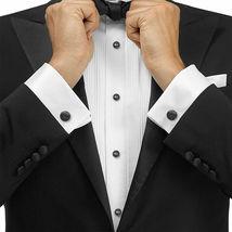 Boltini Italy Men's Premium Tuxedo Lay Down Collar Dress Shirt with Bow Tie image 3