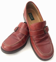 Bass Womens 7 M Leather Loafers With Decorative Strap Buckle Great Quality - $24.24