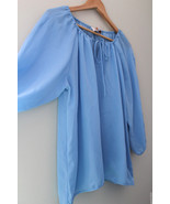 NWT Laundry by Shelli Segal Los Angeles Surf Blue Lovely Silky Blouse To... - $35.40