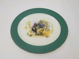 """Homer Laughlin Cavalier Eggshell Serving Platter Tray Green Turkey 15.25""""x13"""" - $29.02"""