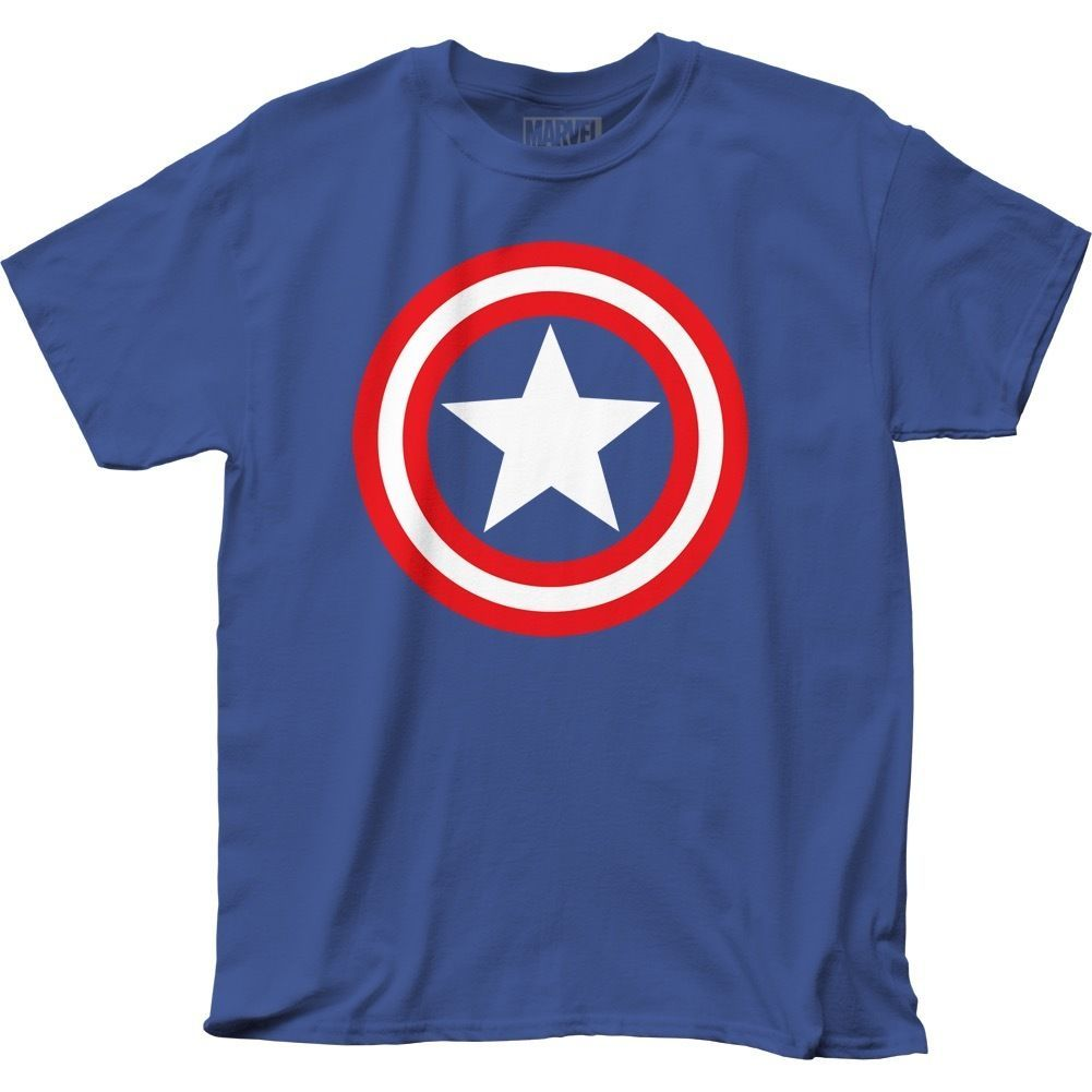 Official Marvel Comics Captain America Logo Shield T-shirt S M L XL 2XL 3XL top