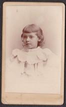 Sara (or) Isara Norris CDV Photo of Pretty Little Girl - Carrington, Eng... - $17.50