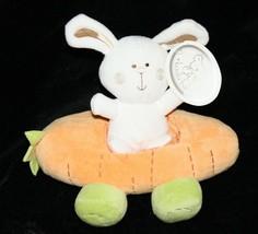 "Koala Baby BUNNY RABBIT 8"" Stuffed Animal Rattle Carrot Race Car Plush Soft Toy - $17.39"