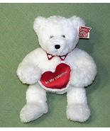 "16"" Gund Be My Valentine TUXEDO TEDDY BEAR Plush Animal White Red Collar... - $22.77"