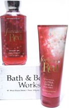 Bath and Body Gift Set of 2 Works Forever Red Shower Gel and Body Cream ... - $23.27