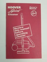 For Hoover Sprint Cleaner Owner's Manual 1989 Litho USA North Canton OHIO  - $9.79