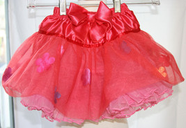 H&M Valeria Red Tulle Satin Floral Skirt Rufffled Girls Size US 2-6 yrs EUC - $7.91