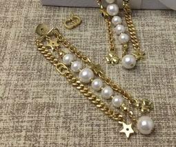 AUTH Christian Dior 2019 LE PRINTEMPS DE DIOR Multi Chain Long Dangle Earrings image 4
