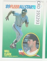 1989 89 Fleer All Star Team #3 Will Clark San Francisco Giants   192293 - $0.98