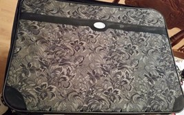 Vintage Suitcase American Tourister Fabric Case Luggage Black & Gray - $54.45