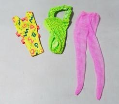 Vintage Barbie Clothes Clothing Retro Neon Printed Leotards Dance Swim &... - $10.72