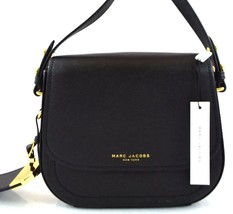 AUTHENTIC NEW NWT MARC JACOBS $295 LEATHER MINI RIDER BLACK MESSENGER BAG - $138.00