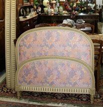 Antique  French Painted & Upholstered  Louis XVI Day Bed & Rails 1880  - $1,150.00
