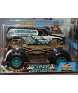 2018 HOT WHEELS MONSTER TRUCK GIANT WHEELS COLLECTION - CYBER CRUSH 1:24 - $24.99