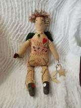 Christmas Angel Home Body Folk Art Doll Toni McCorkle Embroidered Hand S... - $49.99