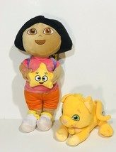 """Dora The Explorer  Carrying Backpack 14"""" With Perrito Puppy Dog Plush 7"""" - $22.28"""