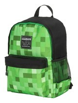 "Jinx 16"" Minecraft Creeper Fade Tier 1 Backpack with Tablet Laptop Sleev... - $25.99"