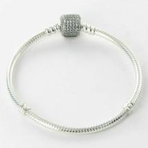 """Pandora 590723CZ-23 23cm/9.05"""" Bracelet Signature Clear CZ Clasp Sterlin... - $58.20"""