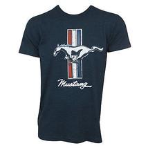 Mustang Logo Men's Navy Tee Shirt Blue - $24.98