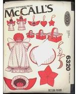 Uncut 1970s Christmas Decorations Super Pack McCalls 6320 Pattern Angel ... - $6.99