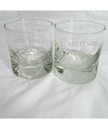 """Cutty Sark Scots Whisky Glass Barware Clear Logo Set of 2 Man Cave 3.25""""... - $17.81"""