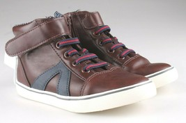 Cat & Jack Toddler Boys' Brown Ed Sneakers Mid Top Shoes 7 US NWT