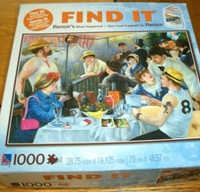 Jigsaw Puzzle 1000 Pieces Renoir Boating Party Masterpiece Modern Items ... - $15.83