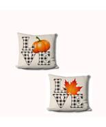 Farmhouse Fall Pillow Covers - Autumn Home Decor - Pumpkin LOVE - Fall L... - $19.99