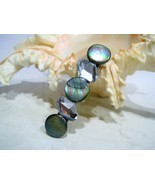 Blue/green river shell with rock shaped crystals hair clip claw clamp ba... - £8.83 GBP