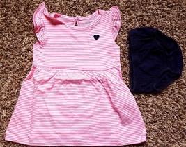 Girl's Size 3 M 0-3 Months 2 Pc Carter's Pink & White Striped NIP Dress,... - $16.00