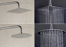 4/6/8/10/12 inch big rain shower head Stainless Square and round top Sho... - $55.90