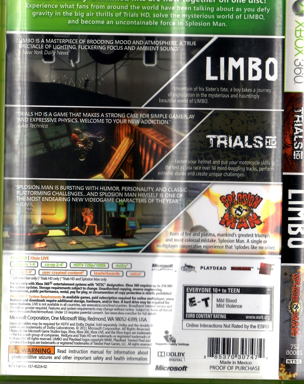 XBox 360 - Trials HD Limbo