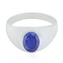 pleasing Lapis Lazuli Gemstone Solid Silver Ring indian gift UK - $25.03