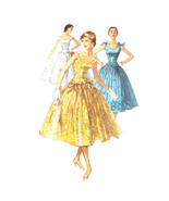 50s Vintage Simplicity Sewing Pattern 1153 Junior Fit Flared Dress Drop ... - $22.95