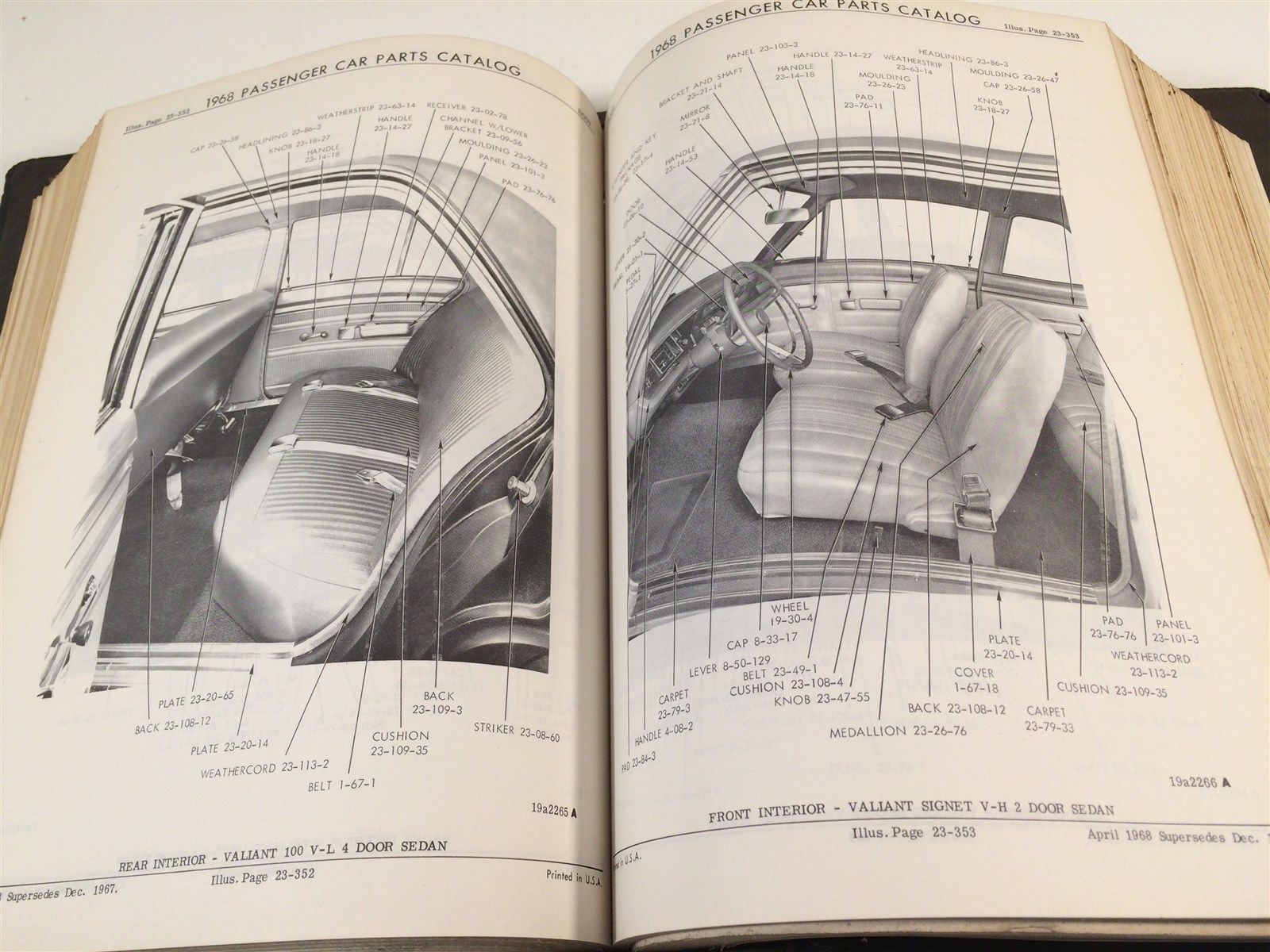 1968 United Motors Passenger Car Parts Catalog Illustrated