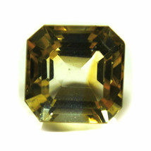 MM 11X9 Natural Citrine Loose Gemstone Yellow Square Shape Faceted ForAs... - $11.10