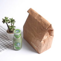 SANNE 6L Brown Paper Lunch Bag Reusable Box Sack Durable Insulated Therm... - $24.15