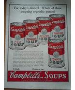 Vintage Campbell's Soup Vegetable Puree's Print Magazine Advertisement 1923 - $10.99