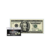 10000 BCW Currency Sleeves for Regular Sized Bills-Fits 6 1/4x2 5/8 Doll... - $116.84