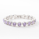 Touchstone Crystal amazing ice bracelet by Swarovski brand new in box violet