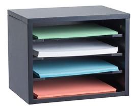 "Adiroffice Black Wood Desk Organizer Workspace Organizers 11"" X 14"" X 9.8"" - $44.95"