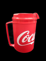 Coca-Cola 12oz Travel Mug Can Holder With Handle Insulated Red w/ White ... - $5.94