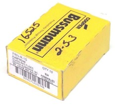 BOX OF 10 COOPER BUSSMANN FRN-R-15 FUSES CLASS RK5 FUSETRON, FRNR15 image 1