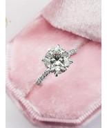 2.4 Ct Round Lab Diamond Art Decor Cut Engagement Ring 925 Star - $72.90